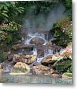 Flowery Falls At Disney Metal Print