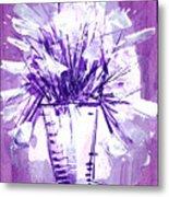 Flowery Purple II Metal Print