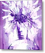 Flowery Purple IIi Metal Print