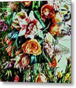Flowing Bouquet Metal Print