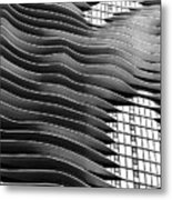 Flowing Facade Metal Print