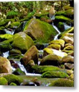 Flowing Mountain Stream Metal Print