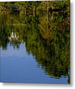 Flowing Reflection Metal Print