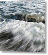 Flowing Sea Waves Metal Print