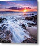Flowing Sunset Metal Print