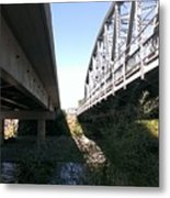 Flowing Under The Bridges Metal Print