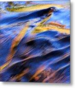 Flowing Water In Fall Metal Print