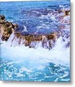 Flowing Water In The Cayman Islands # 4 Metal Print