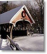 Flume Covered Bridge - Lincoln New Hampshire Usa Metal Print