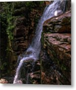 Flume Gorge Waterfall Metal Print