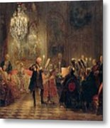 Flute Concert With Frederick The Great In Sanssouci Metal Print