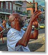 Flute Musician In New Orleans Metal Print