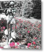 Flute Player - Two Toned Metal Print