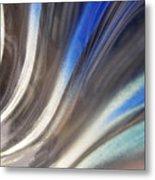 Fluted Blue Metal Print