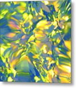 Fluttering Of Color Metal Print