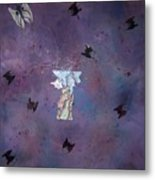 Fluttering Thoughts Metal Print