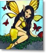 Fluttering Visitors Metal Print