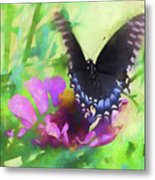 Fluttering Wings Of The Butterfly Metal Print