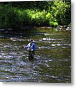 Fly Fishing In New York Metal Print