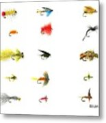 Fly Fishing Nymphs Wet And Dry Flies Metal Print