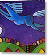 Fly Free From Normal Metal Print