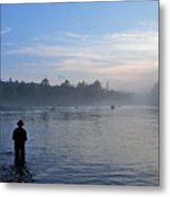 Flyfishing In Maine Metal Print