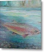 Flyfishing Metal Print
