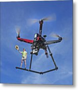 Flying A Drone Metal Print