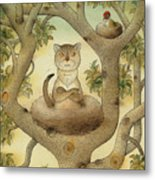 Flying Cat Metal Print
