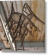 Flying Chairs Metal Print