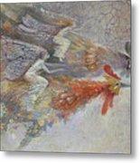 Flying Fairies. Monotype Metal Print