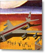 Flying From A Strange Place Metal Print
