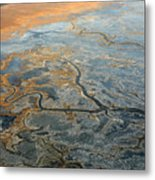 Flying From Fairbanks To Anchorage, Shooting In Airplane Metal Print