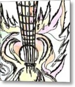 Flying Guitar  Metal Print by Levi Glassrock