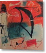 Flying Kites On The Beach At Sunset Metal Print
