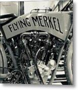 Flying Merkel Metal Print