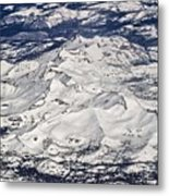 Flying Over Colorado Rocky Mountains Metal Print