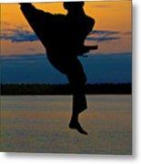 Flying Over Muskegon Lake Metal Print
