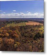 Flying Over New Milford Metal Print
