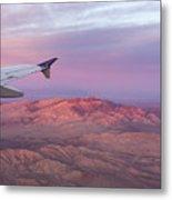 Flying Over The Mojave Desert At Sunrise Metal Print