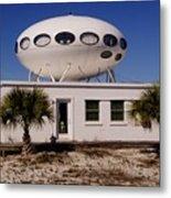 Flying Saucer House Metal Print