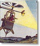 Flying Sentinel, 1900s French Postcard Metal Print