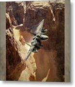 Flying Tenniscourt Metal Print