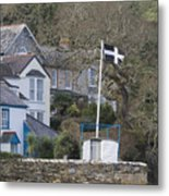 Flying The Flag For Cornwall Metal Print