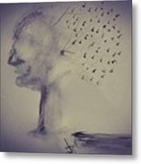 Flying Thoughts  Metal Print