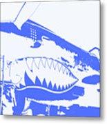 Flying Tiger Blue Metal Print