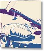 Flying Tiger Blue Purple  Metal Print
