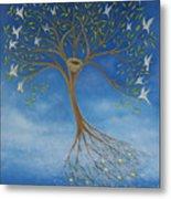 Flying Tree Metal Print by Tone Aanderaa