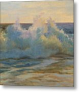 Foaming Ocean Waves Metal Print