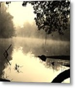 Fog And Light In Sepia Metal Print